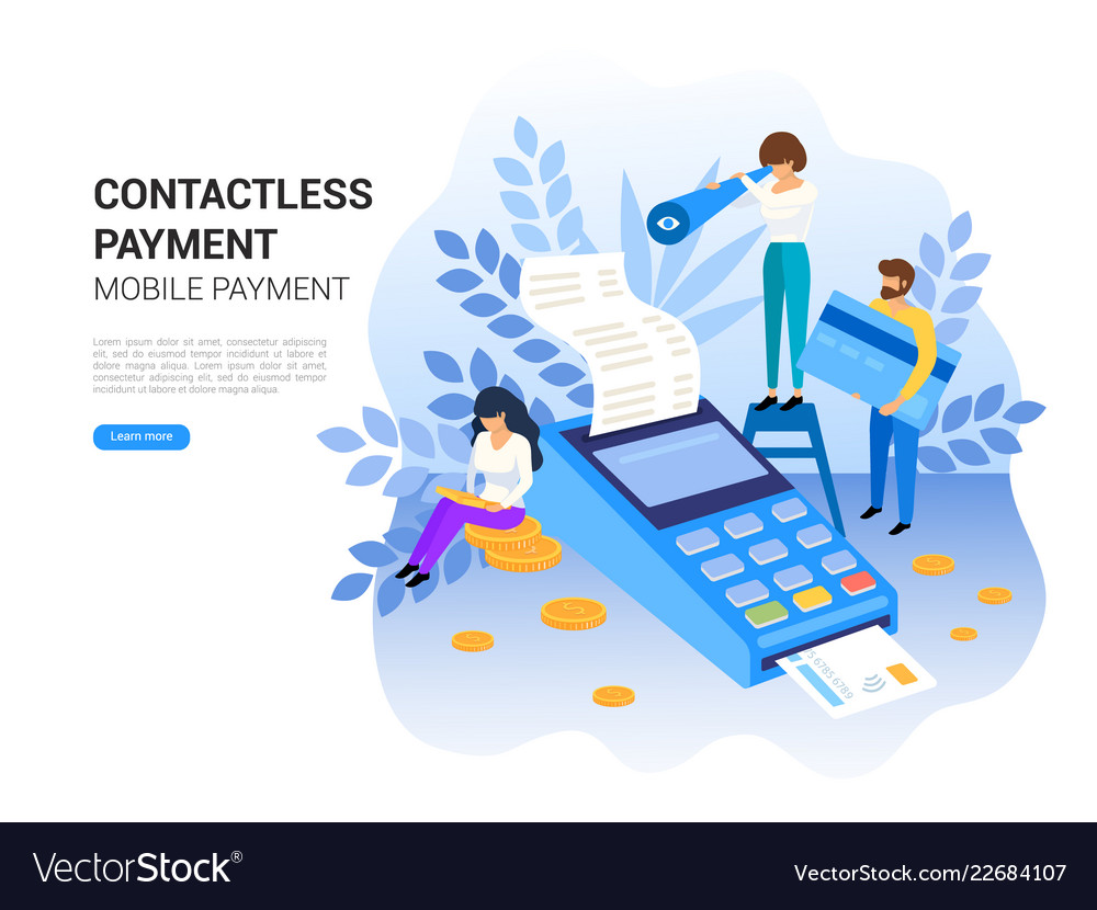 Online and mobile contactless payments concept