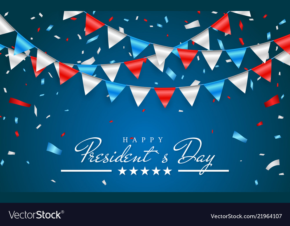Patriotic background with bunting flags for happy