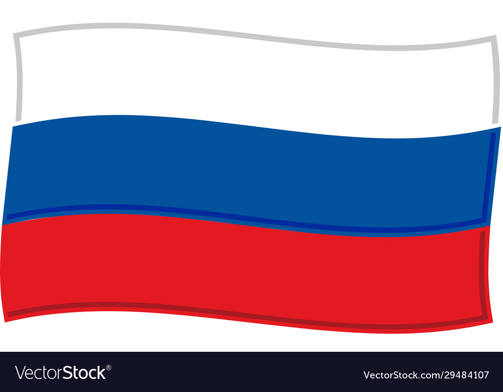 Russian flag graphic
