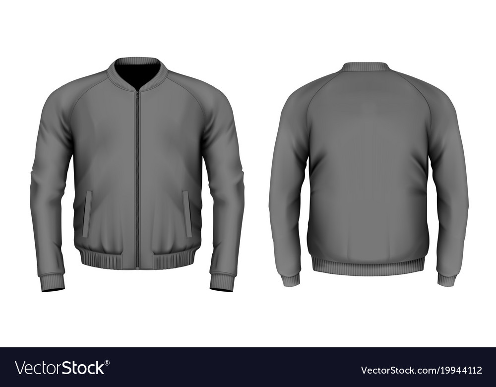 Bomber Jacket In Black Royalty Free Vector Image