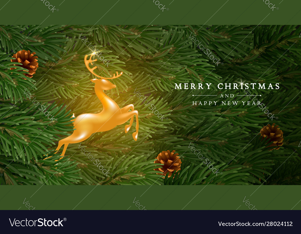 Christmas and new year greeting card template
