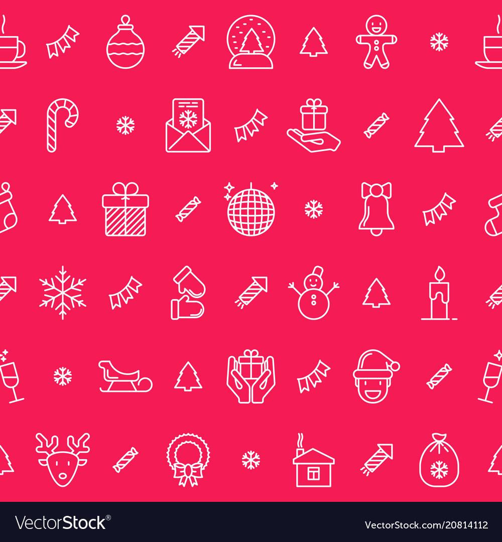 Christmas celebration seamless pattern