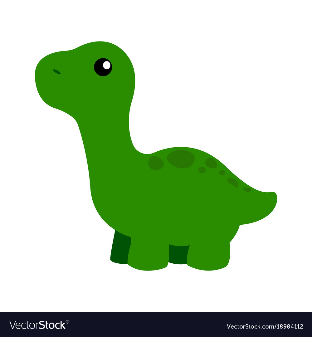 Image of: Png Cute Cartoon Dinosaur Vector Image Vectorstock Cute Cartoon Dinosaur Royalty Free Vector Image