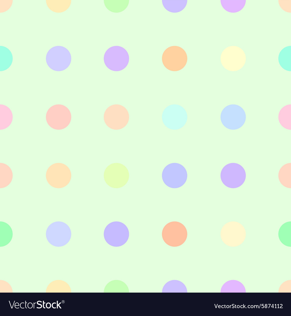 Cute pastel rainbow or colorful polka background