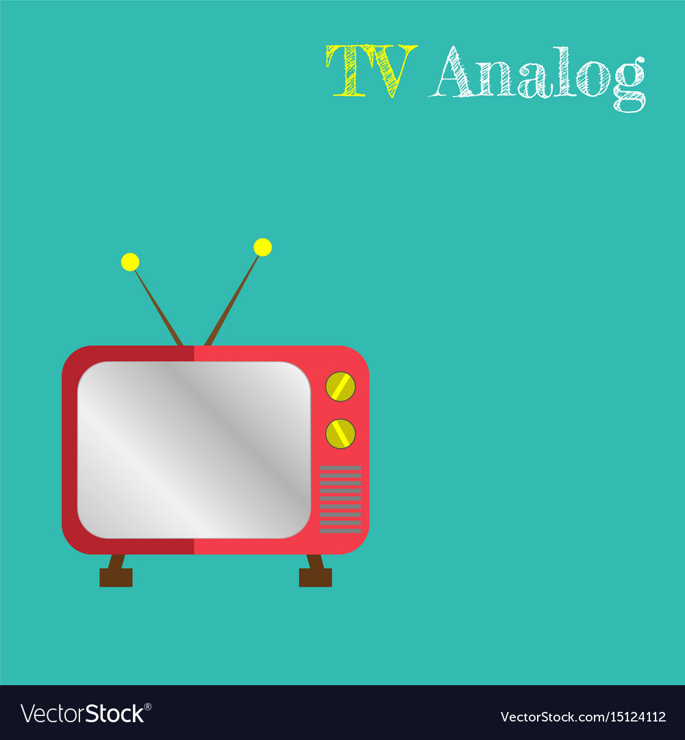 Cute retro tv old tv cartoon style