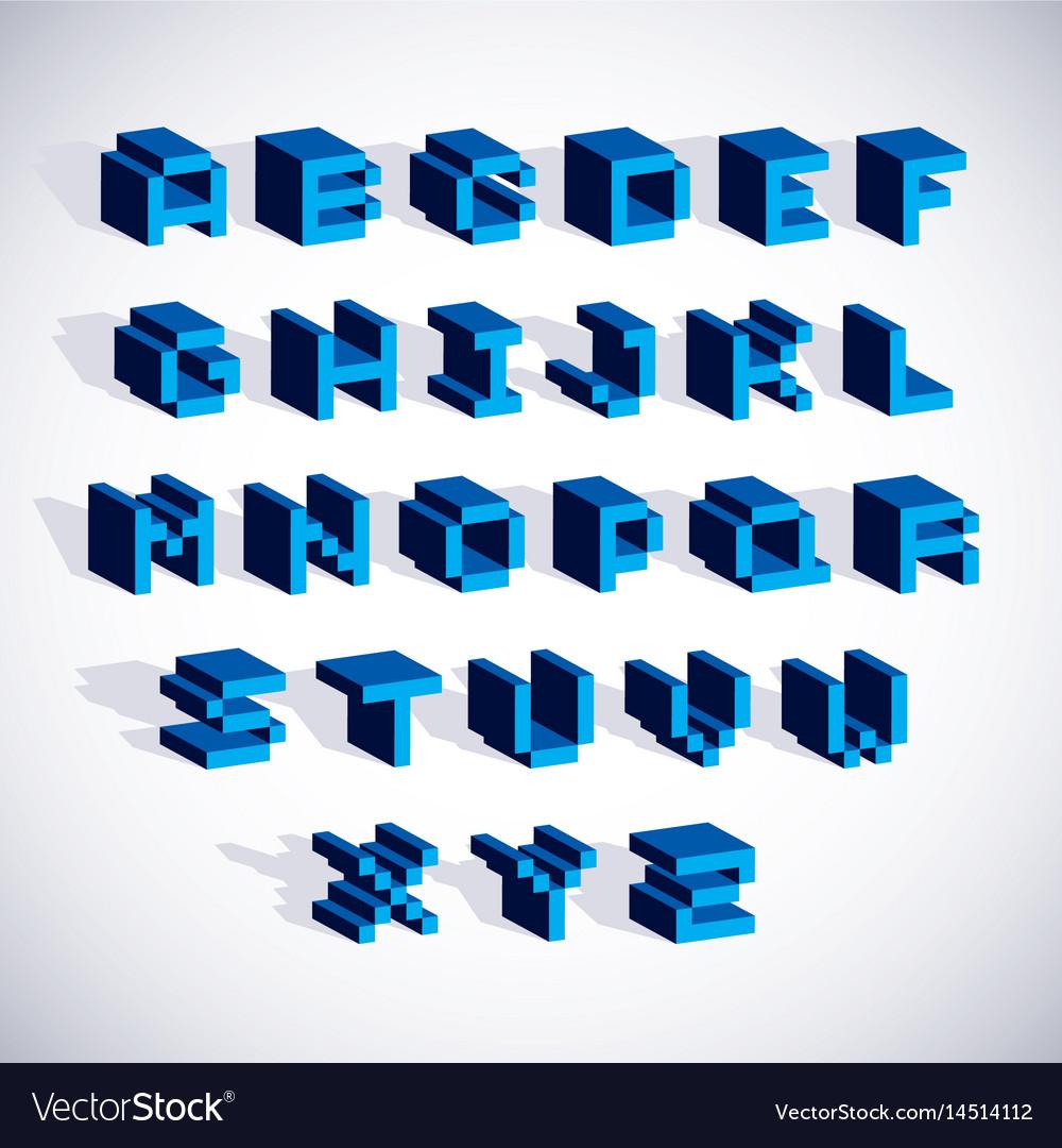 Font typescript created in 8 bit style pixel art