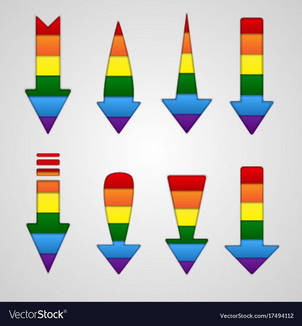 Rainbow arrows lgbt community flag colors