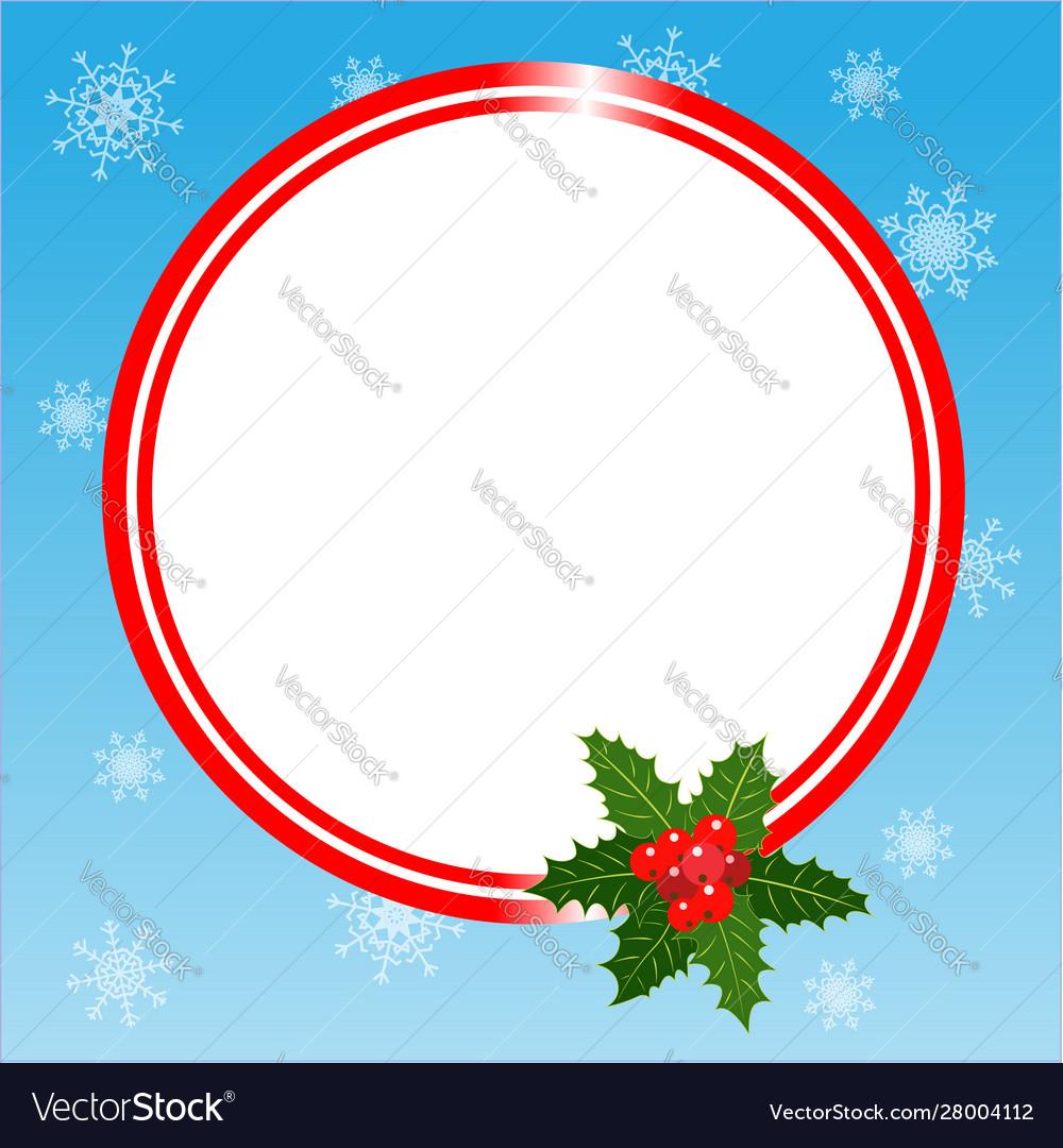 Round christmas frame card template