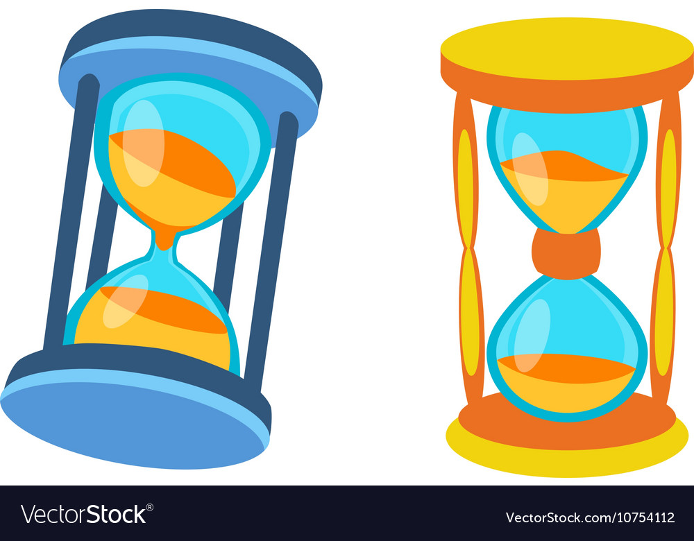 Sand clocks isolated