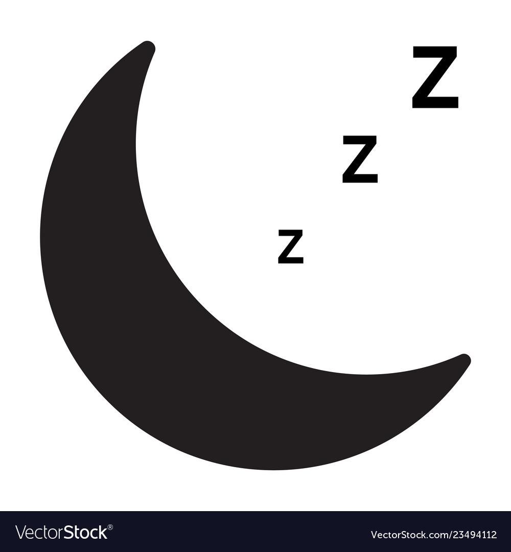 Sleep icon on white background flat style sleep