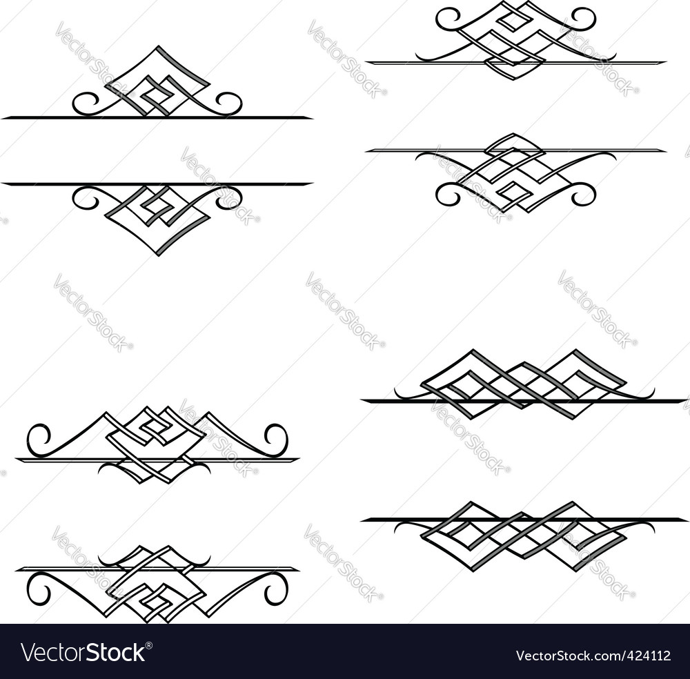 Vintage monograms and motifs