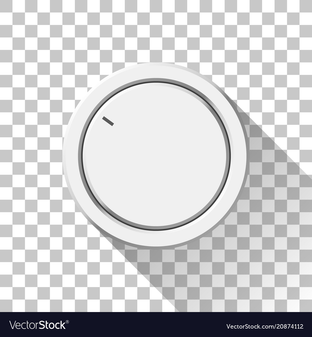 White technology volume knob