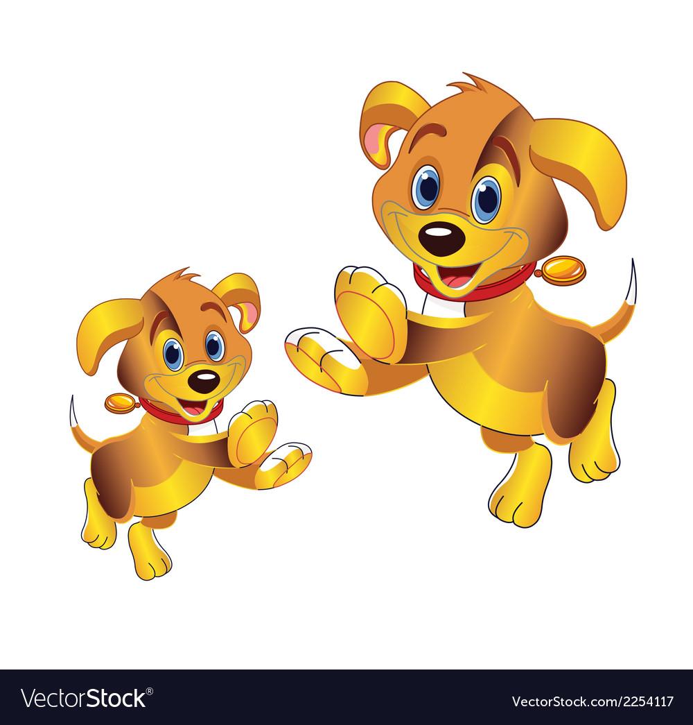3d Cartoon Dog Clipart Royalty Free Vector Image