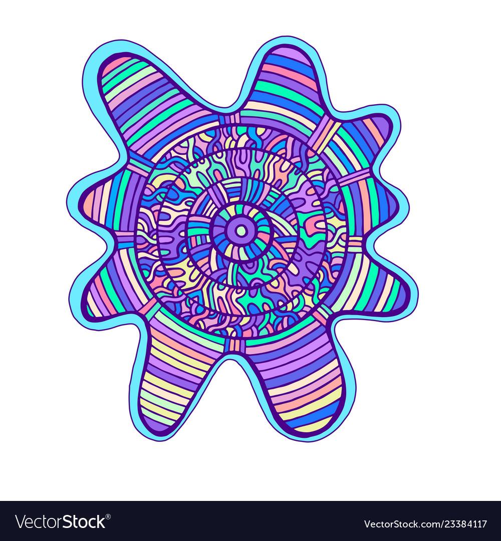 Abstract colorful mandala with circle pattern