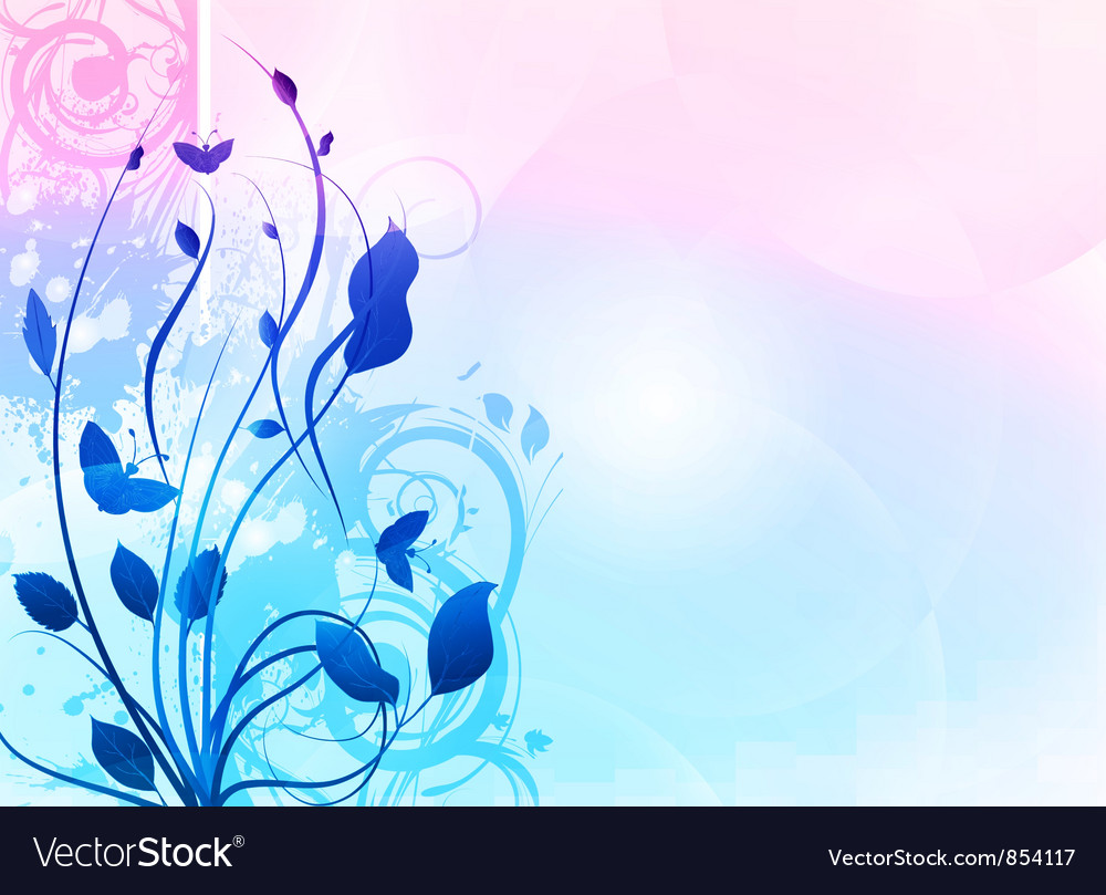 Abstract Floral Background Royalty Free Vector Image