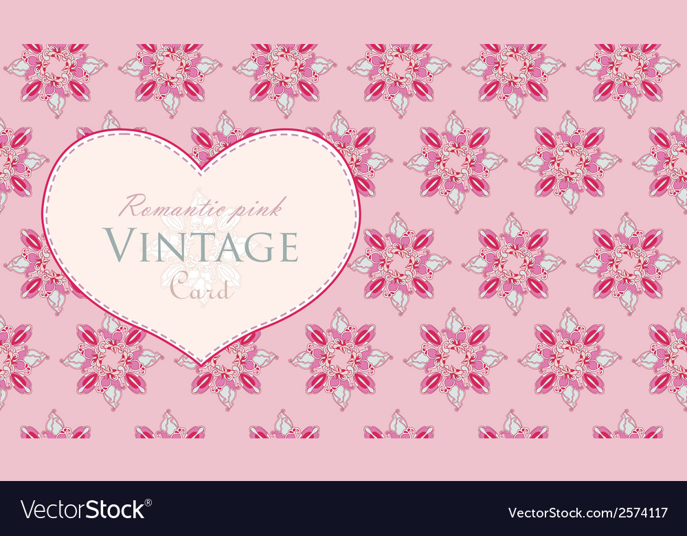 Abstract vintage invitation card with stylized