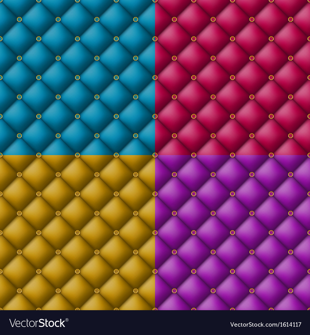 Button-tufted leather background vector image