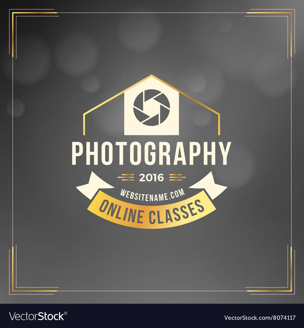 Photography Logo Design Template Photography Retro