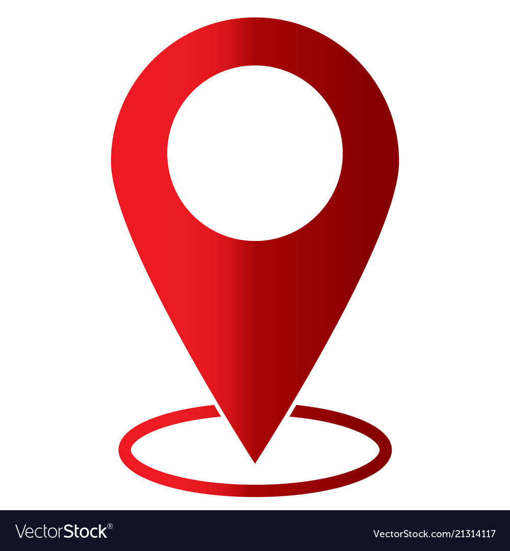 Pin icon on white background flat style map