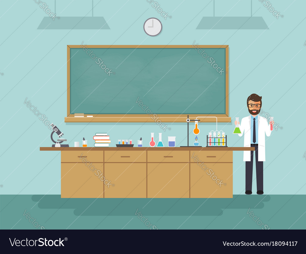 Scale Up Classroom Design And Use Can Facilitate Learning ~ Science teacher teaching student in classroom vector image