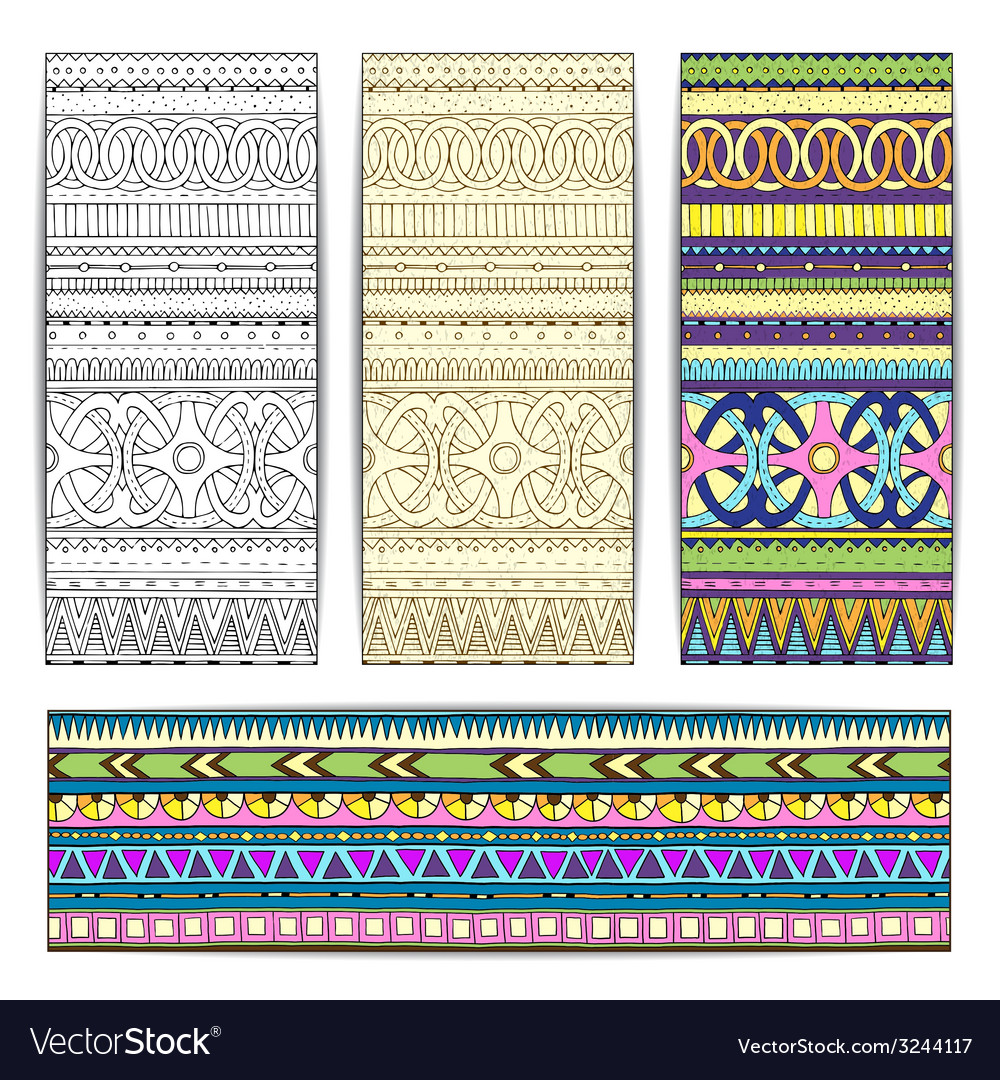 Tribal texture cards