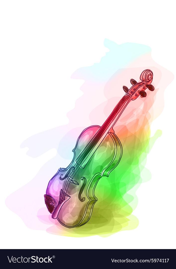 Violin in iridescen colours