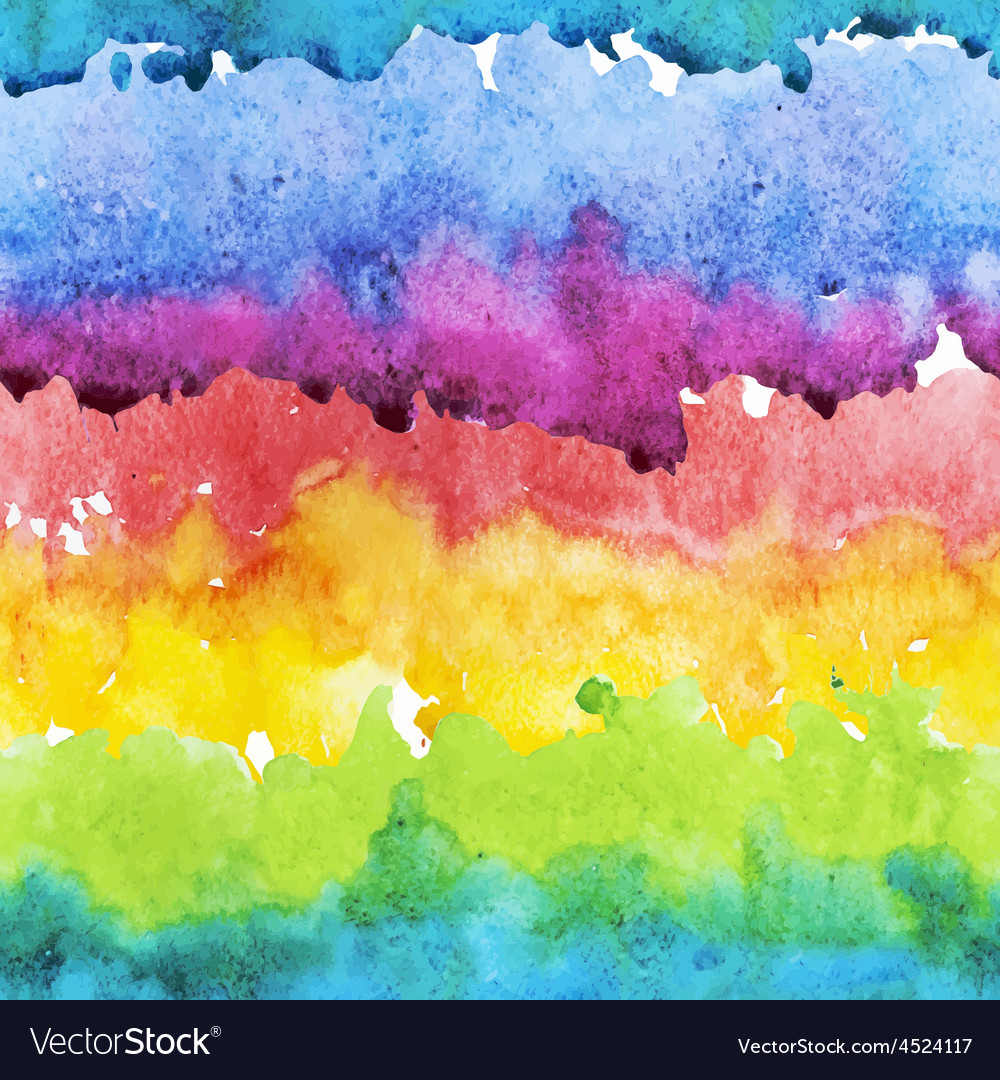 Watercolor colourful stripes