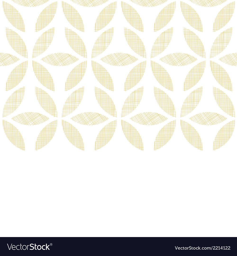 Abstract textile beige leaves horizontal seamless
