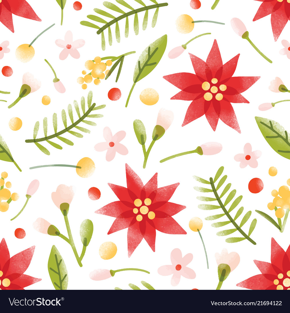 Floral seamless pattern with gorgeous blooming
