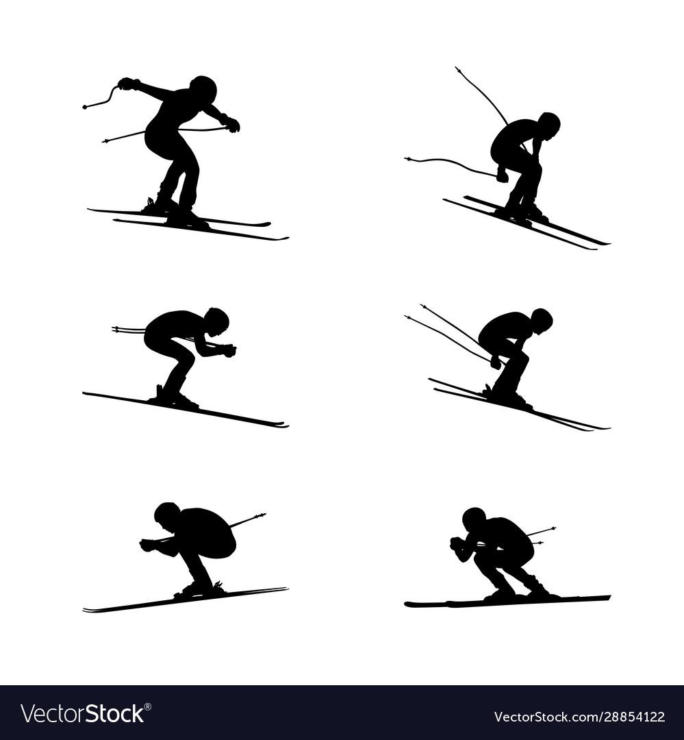Set group alpine skiing