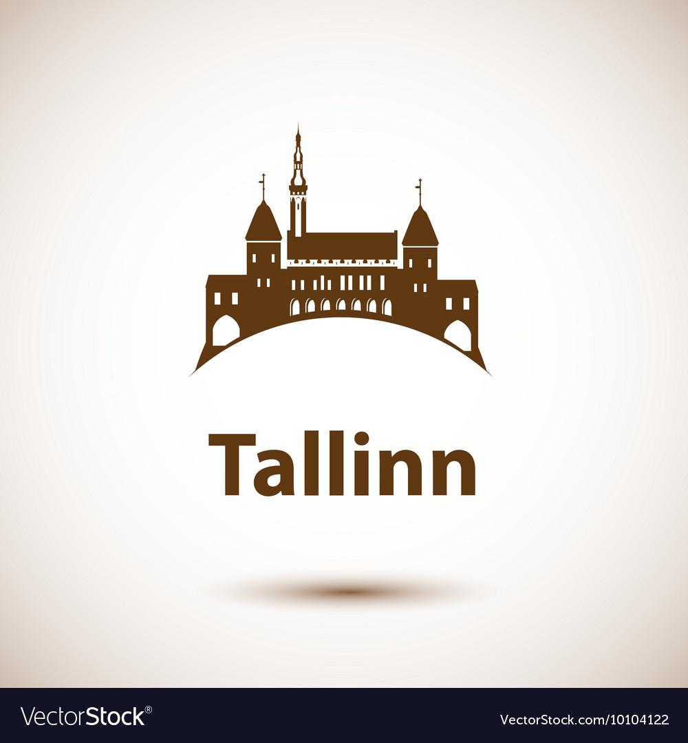 Tallinn skyline vector image