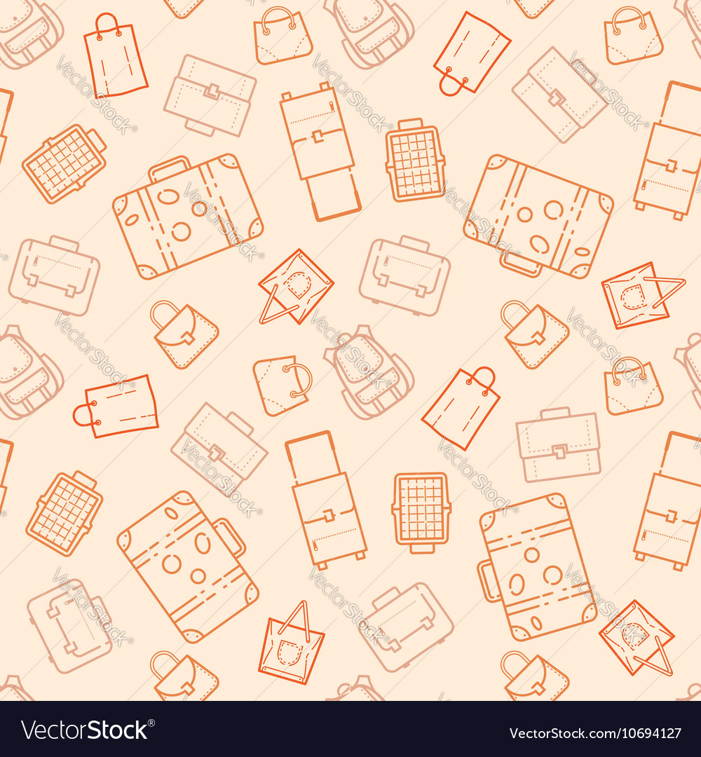Bags and suitcases seamless pattern
