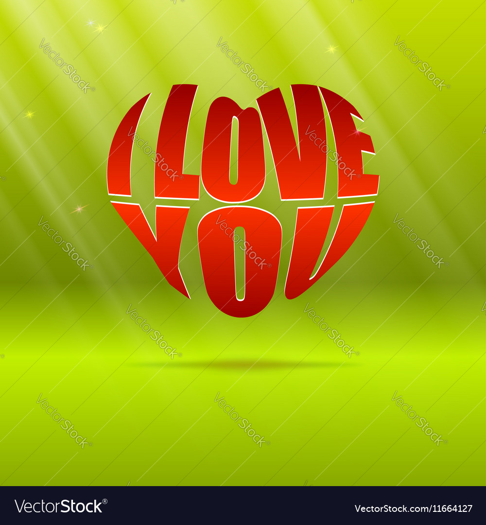 Heart Typography Shape Design For Love Symbols Vector Image