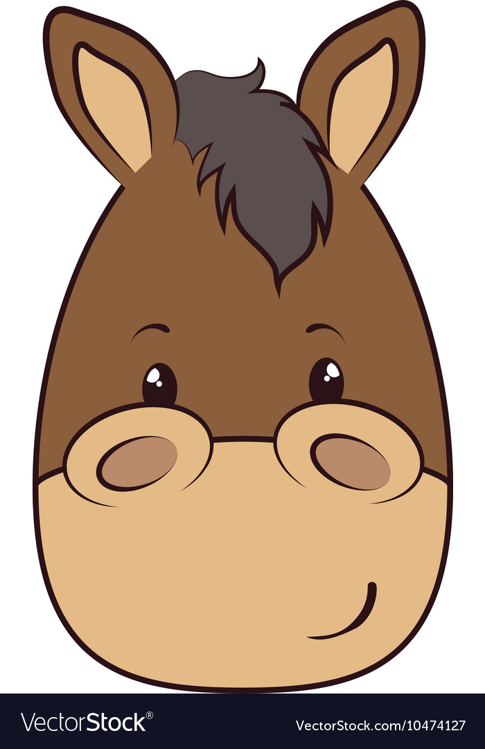 Horse Face Animal Cartoon Royalty Free Vector Image