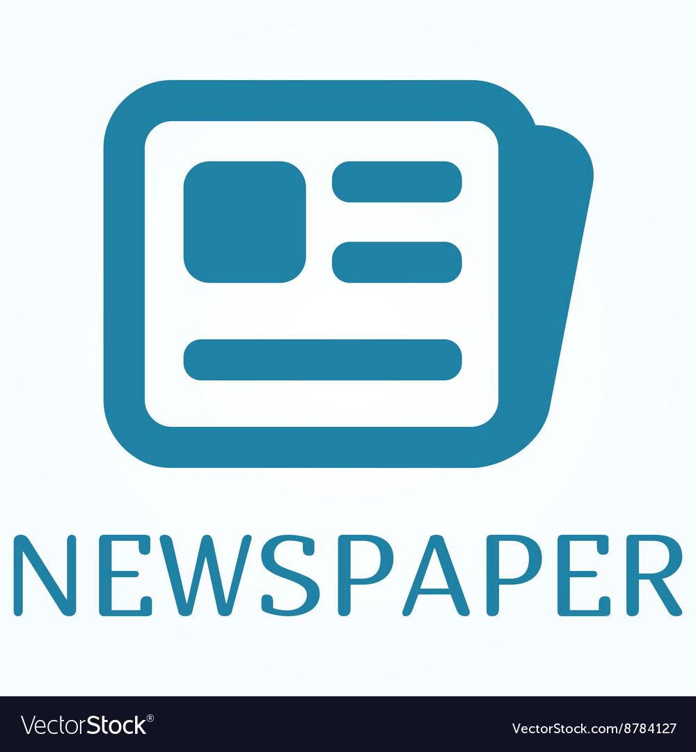 Icon or sign of newspaper in flat style