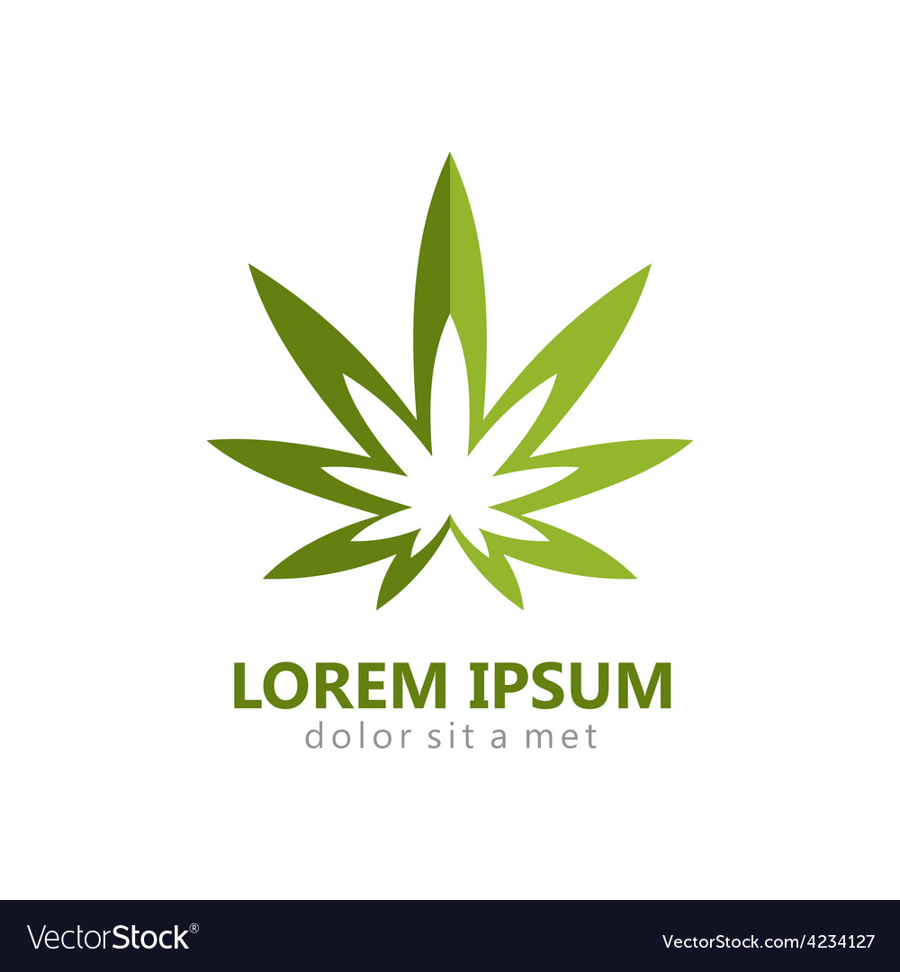 Marijuana leaf abstract logo
