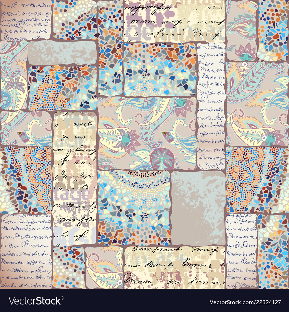 Seamless square pattern abstract color