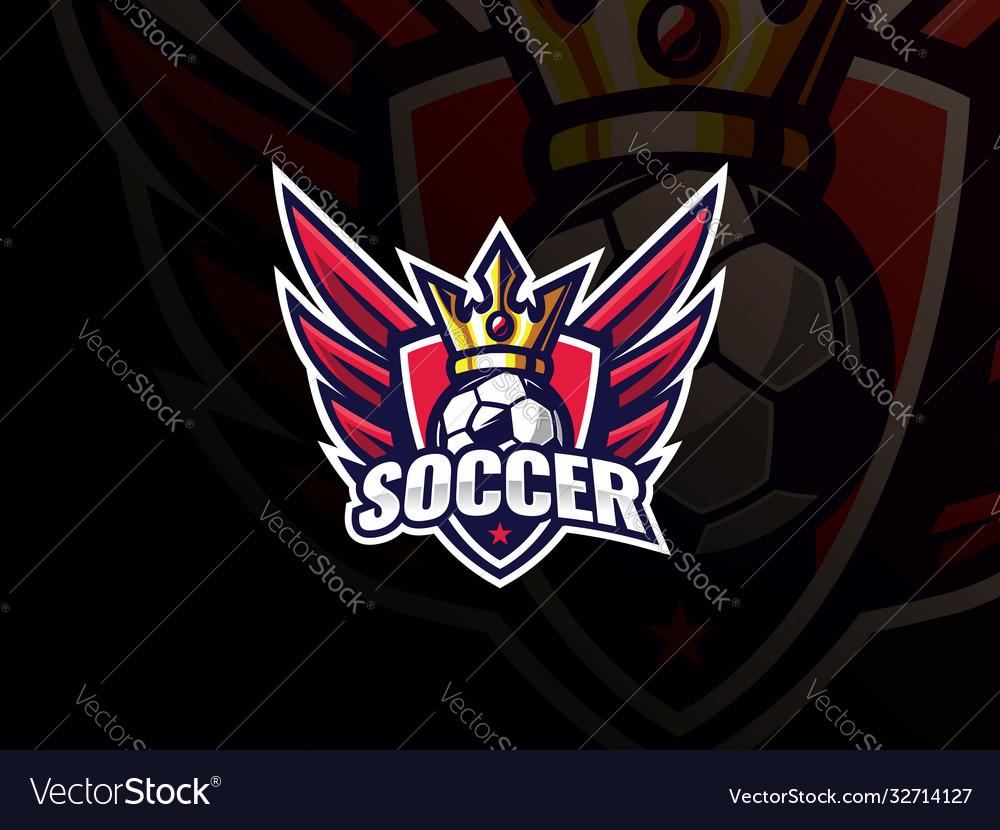 Soccer football sport logo design