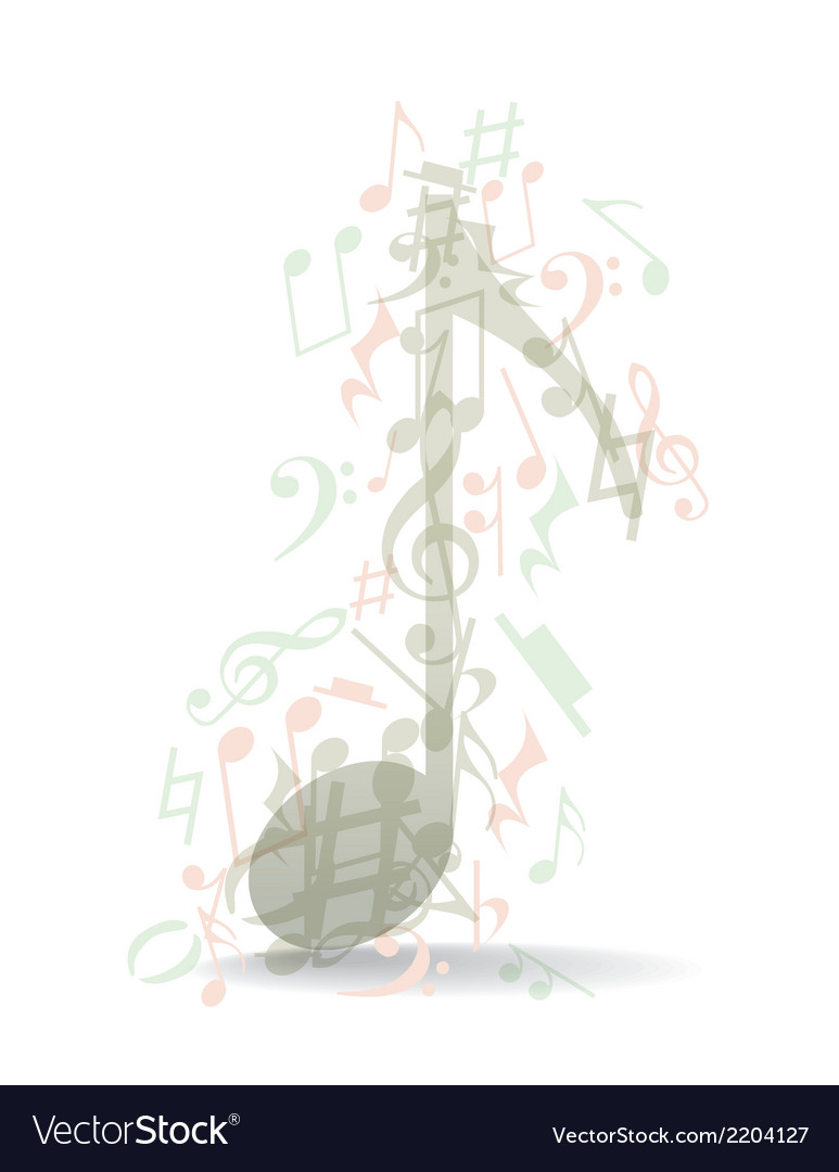 Transparent Music Note Royalty Free Vector Image