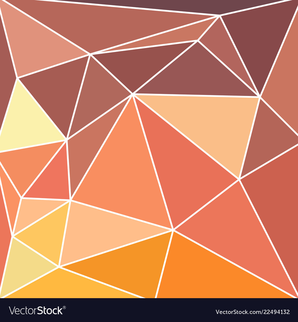 Abstract vitrage with triangular multi colors grid