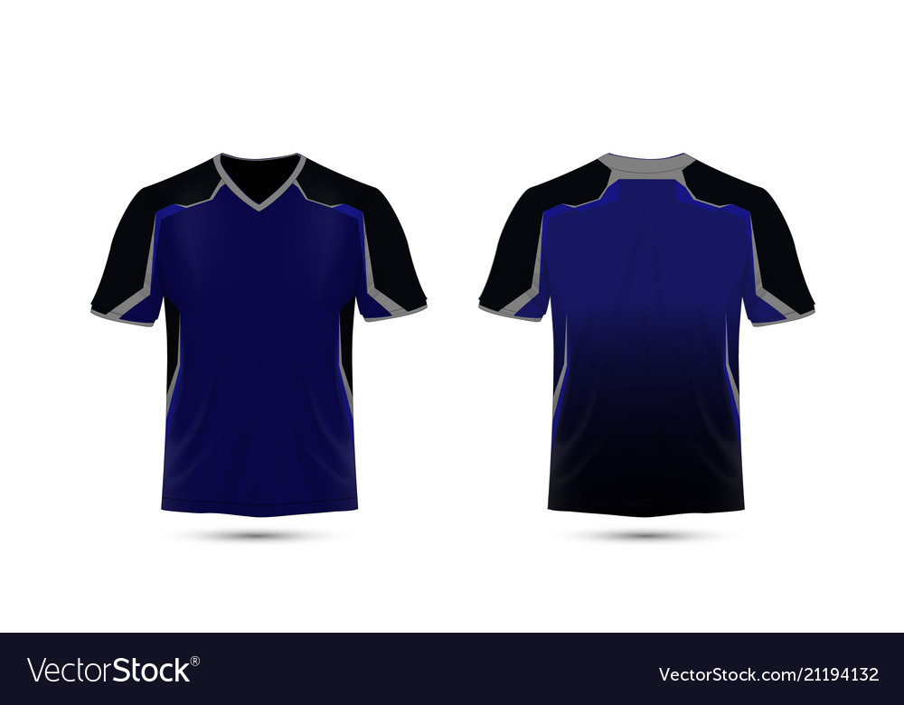 d5e708559 Blue and black layout e-sport t-shirt design Vector Image