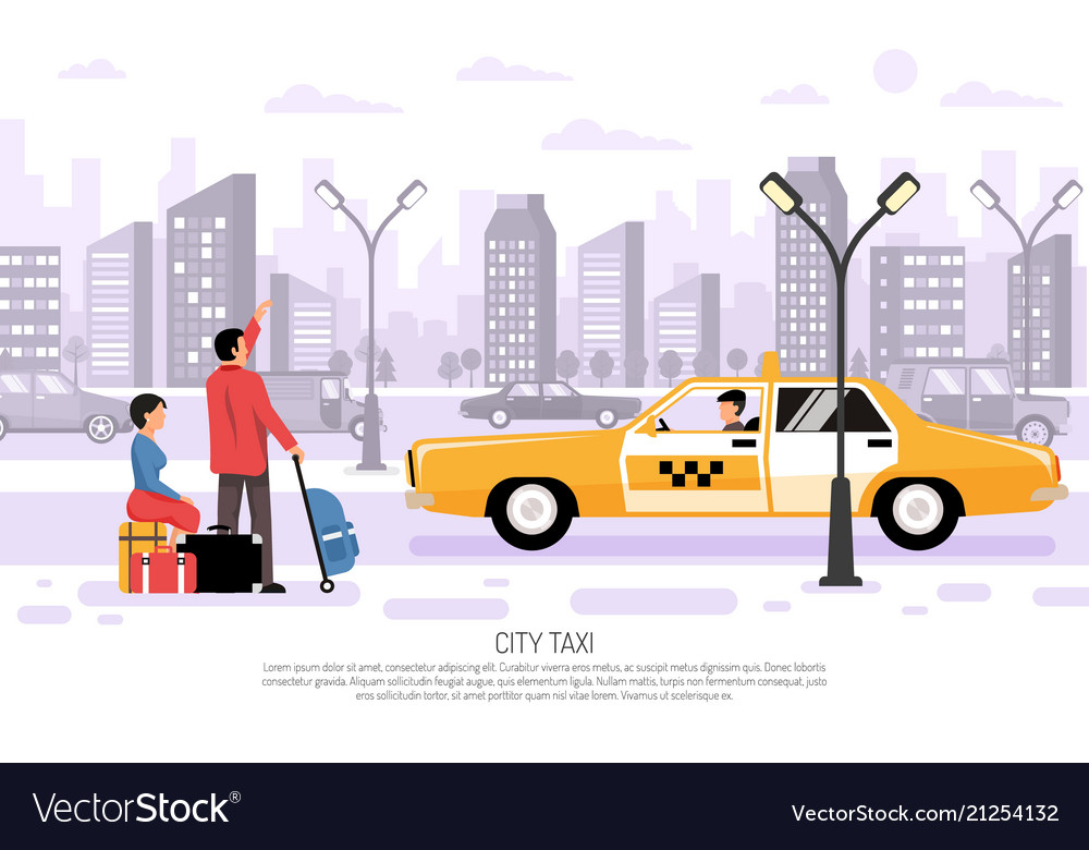 City taxi transport poster