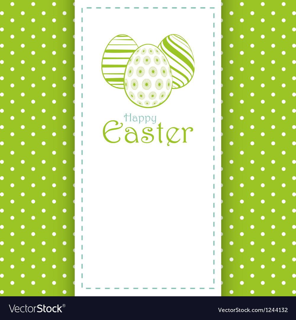 Easter panel background vector image
