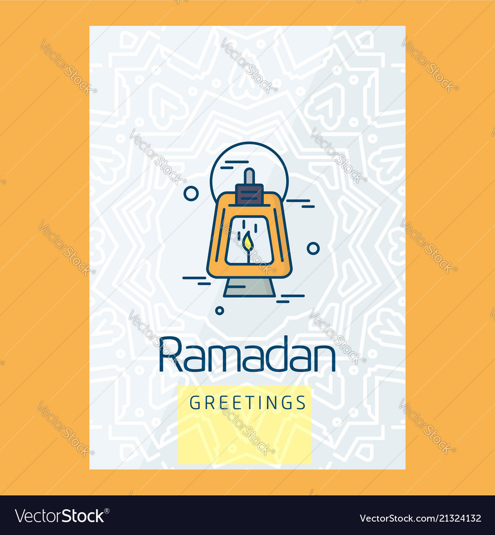 Happy Ramdan Kareem Greetings With Creative Design