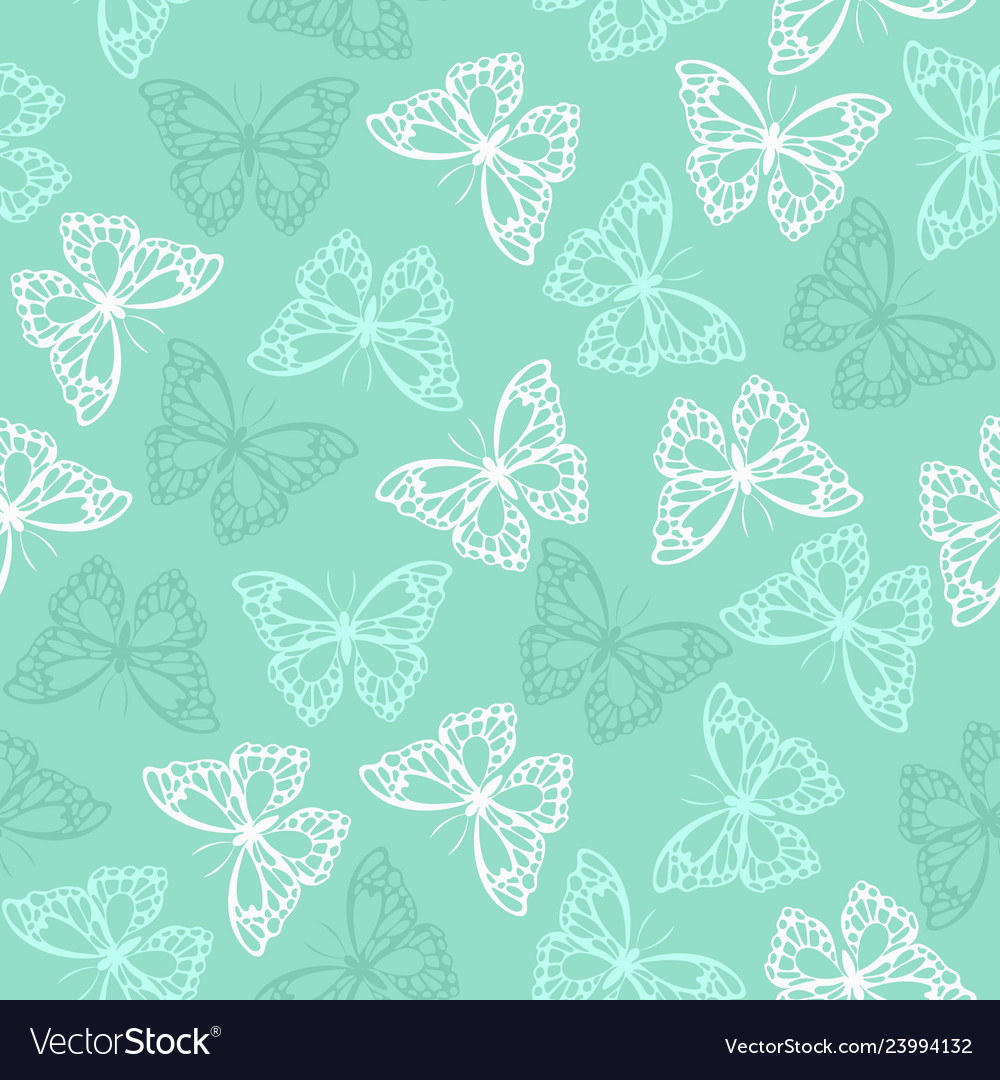 Seamless pattern with colored butterflies