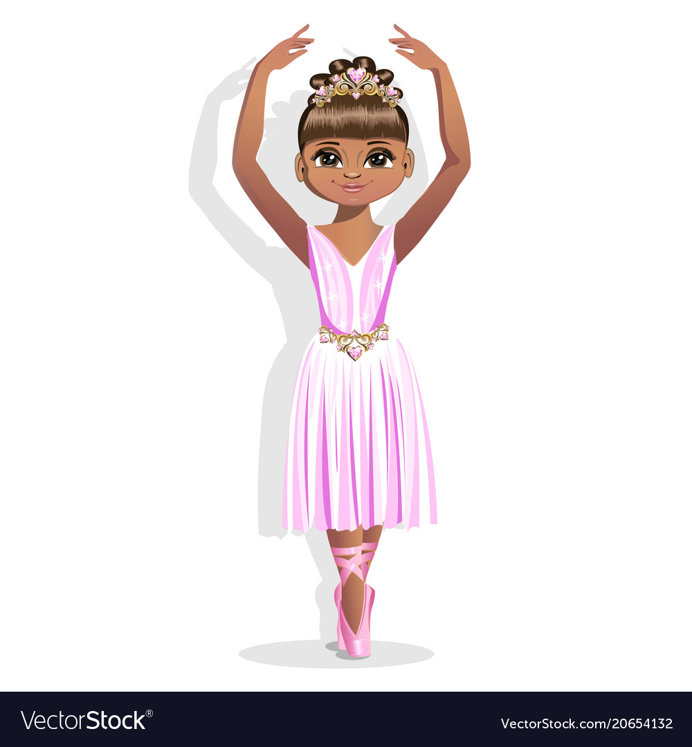 ballerina in Free Vector shiny Sweet little a dress Royalty VUjqzMpGLS