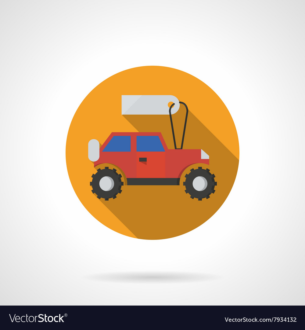 Toy Car Shop Round Flat Color Icon Royalty Free Vector Image