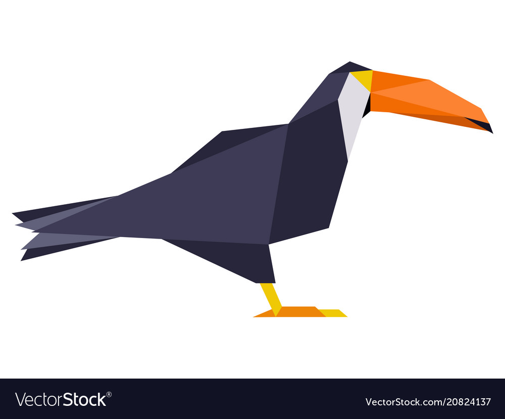 Abstract low poly toucan logo