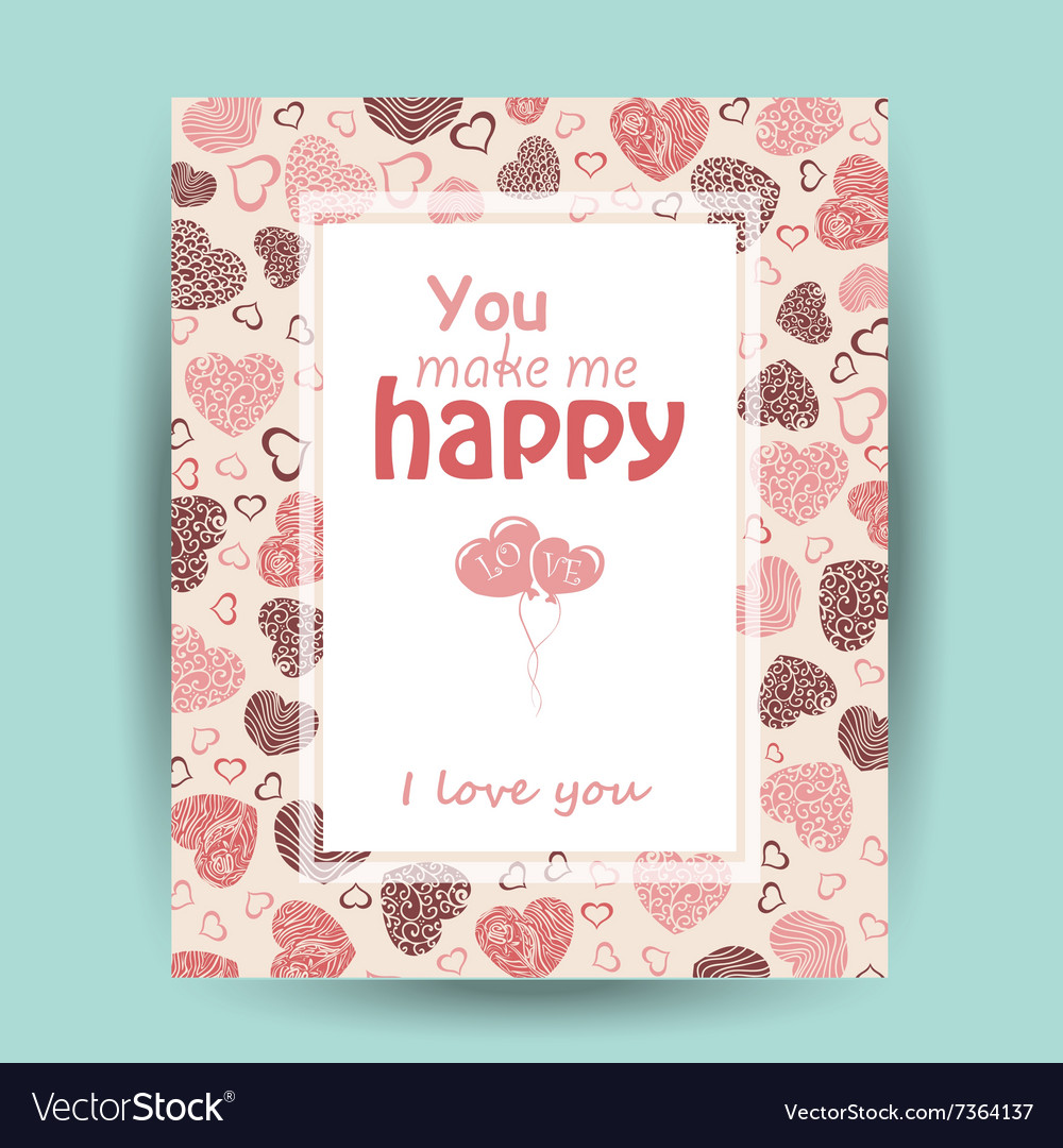 Card with love words