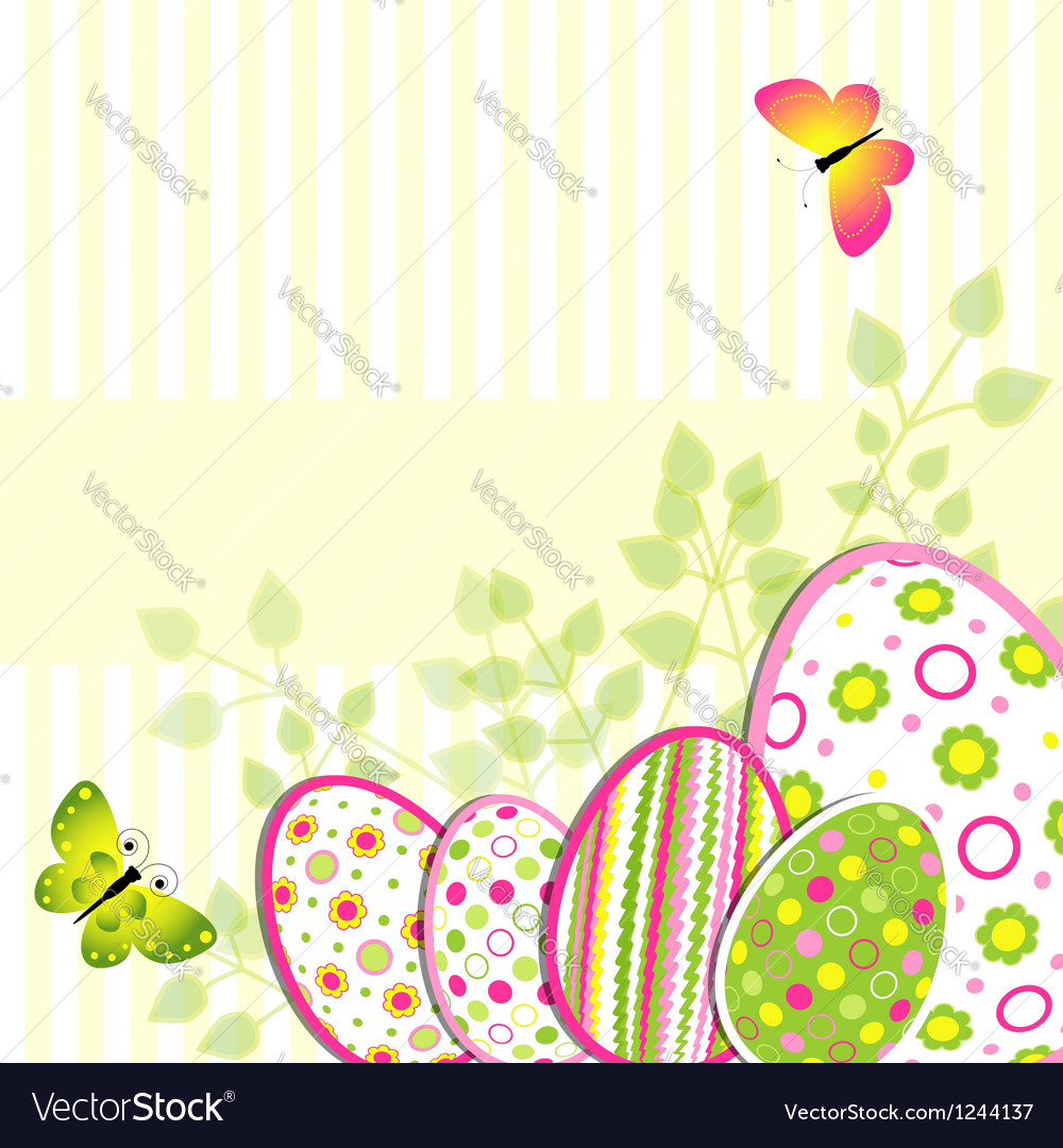Colorful Easter holiday greeting card vector image